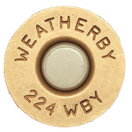 Weatherby BRASS386 Unprimed Brass 338-06 A Square Lightweight 20 Per Box