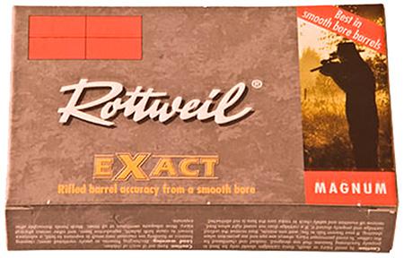 223140005 Exact Rottweil Mag 12 Gauge 3 Lead 1-1|8 oz Slug Shot 5 Bx|40 Cs in.