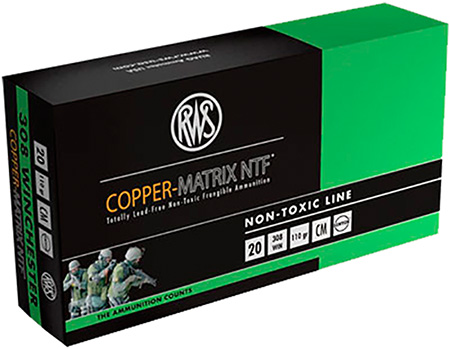 230840020 NTF RWS Copper-Matrix 308 Winchester 110 GR Non-Tox Frangible 25 Bx|10 Cs