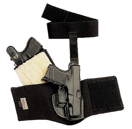 Galco AG296B Ankle Glove Holster Fits Ankles up to 13 Sig P239 Steerhide Black in.