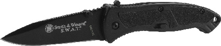 S&W Knives SWATMB SWAT Magic Medium Folder 3.2 4034 Stainless Steel Black Drop Point Black Aluminum Handle in.