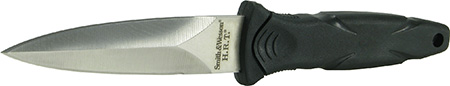 S&W Knives SWHRT3 Military Fixed 3.5 400 Stainless Spear Point Rubberized Aluminum in.