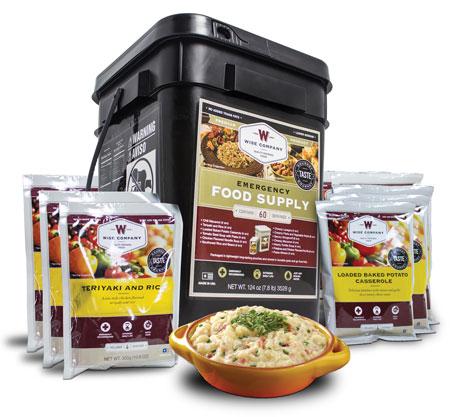 Wise Foods 01160 Grab N Go Bucket Entree Only 60 Servings