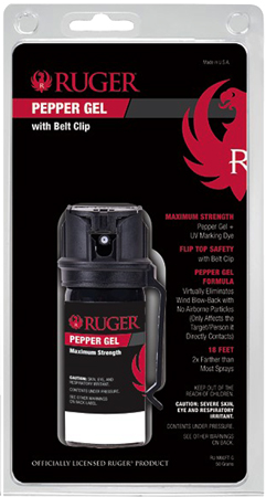 Sabre RUM60FTG Belt Clip Pepper Spray Pocket 1.8 oz 18 Feet Blk|Red