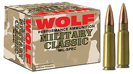 Wolf MC308FMJ168 Military Classic 308 Winchester|7.62 NATO FMJ 168 GR 500 Rds