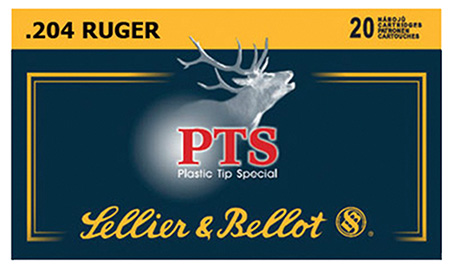 Sellier & Bellot SB204A Plastic Tip Special 204 Ruger PTS 32 GR 20Box|50Case