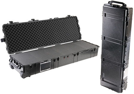 Pelican 1770 Protector Long Case with Wheels Polypropylene Black 57.42 x 18.48 in.  x 11.23 in.  (Exterior) in.