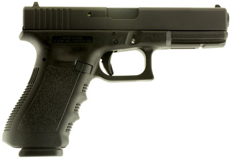 Glock UI1750201 G17 Gen3 Double 9mm Luger 4.48 10+1 FS Black Polymer Grip|Frame Black in.