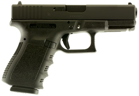 Glock UI2350201 G23 Compact Double 40 Smith & Wesson (S&W) 4.01 10+1 Black Polymer Grip|Frame Grip in.