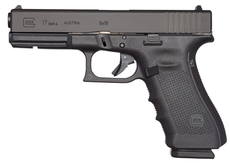 Glock UG1750201 G17 Gen4 Double 9mm Luger 4.48 10+1 FS Black Interchangeable Backstrap Grip Black in.