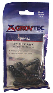 Grovtec US Inc GTHM60 Wood Screw Swivel Studs 0.5 12-Pack Black in.