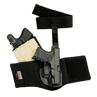 Galco AG646B Ankle Glove Holster Fits Ankles up to 13 Sig P290 Steerhide Black in.