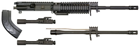 Windham Weaponry KITMCS2 Multi-Caliber Upper Kit 223 Remington|7.62x39mm 16 Blk in.