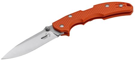 Boker 01BO372 Plus Folder 3.75 154CM Stainless Drop Point Fiberglass Reinforced Nylon Orange in.