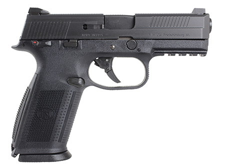 FN 66947 FNS 40 Double 40 Smith & Wesson (S&W) 4 10+1 Black Polymer Grip|Frame Grip Stainless Steel in.