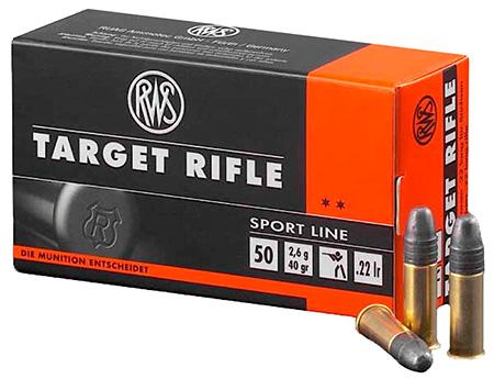 RWS 2132478 22 LR 22 Long Rifle Lead Round Nose 40 GR 50 Rnds Per Box