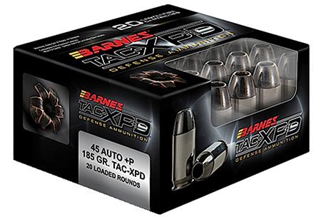 Barnes 21555 TAC-XPD 45ACP+P 185GR TAC-XP 20Bx|10Cs