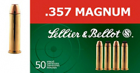 Sellier & Bellot SB357L Handgun 357 Magnum 158 Lead Flat Point 50Bx|20Case