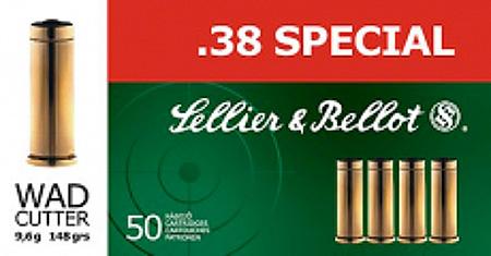 Sellier & Bellot SB38L Handgun 38 Special 158 GR LFN 50 Bx| 20 Cs