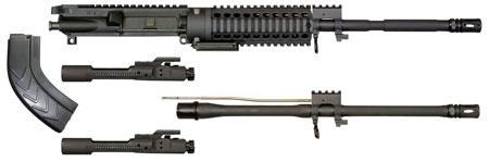 Windham Weaponry KITMCS3 Multi-Caliber Upper Kit 300 AAC Blackout|Whisper (7.62x35mm) 16 4150 Chrome Moly Vanadium Steel Chrome-Lined Black Phosphate Brl Finish in.