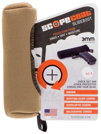 Scopecoat 17SB04CT Slide Boot Junior Slide Cover .32|.380|9mm Tan
