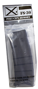 Port City Armory LLC  FS30 AR-15 Mag 223 Remington|5.56 NATO 30 rd Poly Black