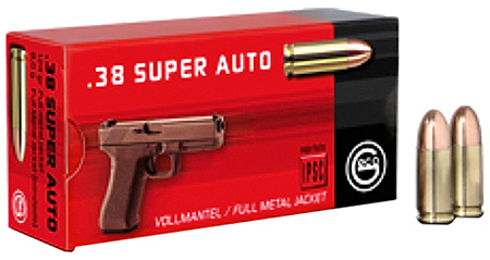 GECO 271140050 Pistol 38 Super 124 GR FMJ (FMJ) 50 Bx/ 16 Cs