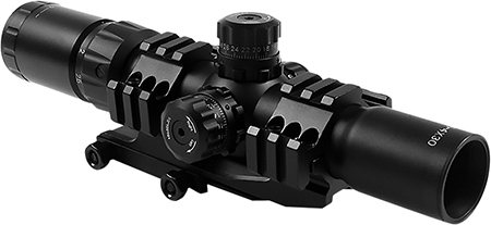 Aim Sports JTHR1 Recon 1.5-4x 30mm Obj 36.6 ft @ 100yds FOV 30mm Tube Black Illuminated 3|4 Circle, 3 Color