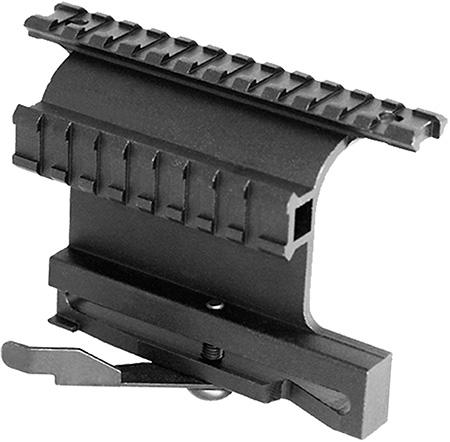 Aim Sports MK004S Dual Rail System For AK47 Side Mount Style Black Finish