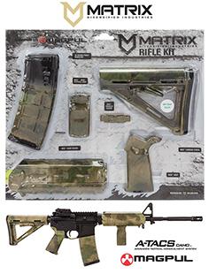 MDI MAGMIL24-FG A-TACS FG Camo Magpul MOE Kit Poly AR-15