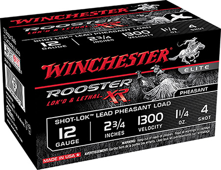 Winchester Ammo SRXR125 Rooster XR 12 Gauge 2.75 1-1|4 oz 5 Shot 15 Bx| 10 Cs in.