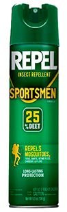 Repel 94137 Sportsmen Insect Repellent Aerosol 25% Deet 6oz