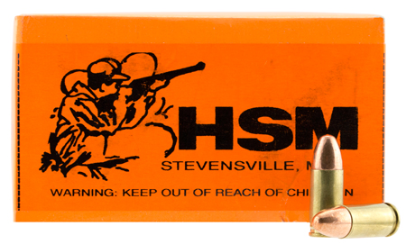 HSM 9MM4R Training 9mm Luger 124 GR FMJ 50 Bx| 20 Cs