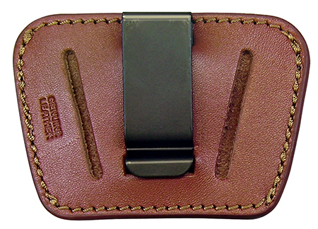 Homeland HL036BRN Belt Slide Holster Pistol Small|Medium Brown Leather
