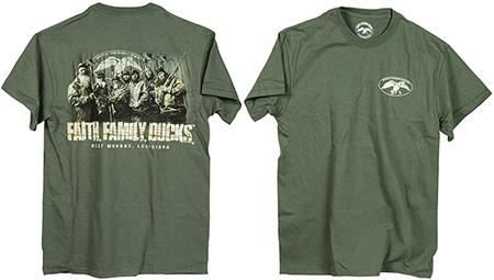 Duck Commander DCSHIRTMFFD Faith.Family.Ducks. T-Shirt Moss Green S Cotton