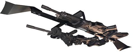 Great Day CL1502T Center-Lok Tactical Overhead Gun Rack for Trucks Black Aluminum