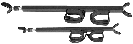 Great Day QD850OGR Quick Draw Overhead Gun Rack for UTV with 23-28 in.  Roof Black Aluminum in.