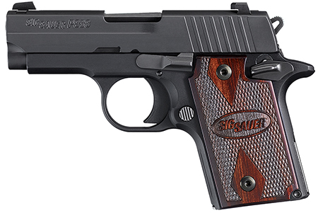 Sig Sauer 938M9BRGAMBI P938 Micro-Compact *MA Compliant* Single 9mm Luger 3 7+1 Black Polymer Grip Black Nitron Stainless Steel in.