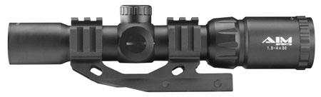 Aim Sports JTMR2 Recon 1.5-4x 30mm Obj 36.6 ft @ 100 yds FOV 30mm Tube Black Matte Illuminated Mil-Dot
