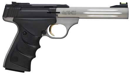 Browning 051500490 Buck Mark Lite 22 Long Rifle (LR) Single 5.5 10+1 Black Ultragrip RX Grip Gray Aluminum Alloy Frame Black Aluminum Alloy Slide in.