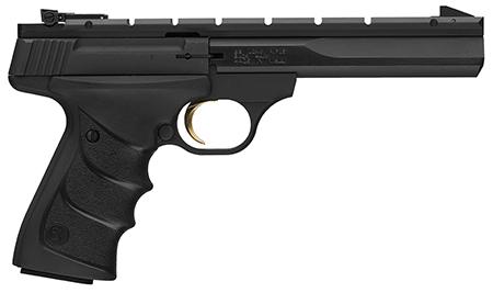 Browning 051501490 Buck Mark Contour 22 Long Rifle (LR) Single 5.5 10+1 Black Ultragrip RX Grip Black Aluminum Alloy Frame Slide in.