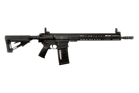ArmaLite  AR-10 Tactical Rifle Semi-Automatic 308 Winchester|7.62 NATO 16 FS Pinned|Welded MBUS 25+1 Magpul STR Black Stk Black Hard Coat Anodized in.
