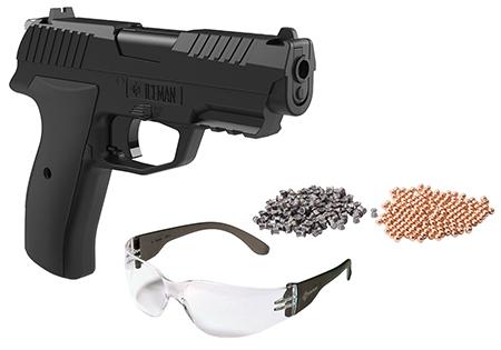 Crosman CCICE7BKT Iceman Air Pistol Kit Repeater .177 BB Black