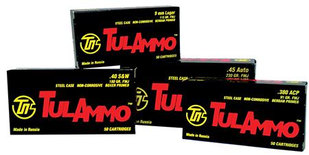 Tulammo TA918092 Centerfire Handgun 9mmX18mm Makarov 92 GR FMJ 50Box|20Case