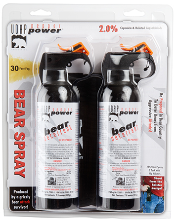 UDAP BS2 Bear Spray 7.9oz|225g Up to 35 Feet 2-Pack Black