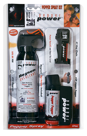 UDAP PSK Pepper Spray Kit 3 Pack Multiple Close Contact Black