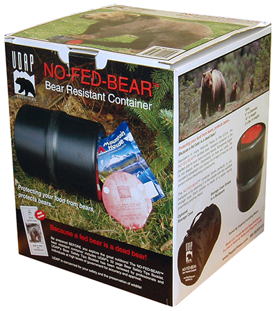 UDAP BRC No-Fed-Bear Food Container Bear Resistant Black/Red