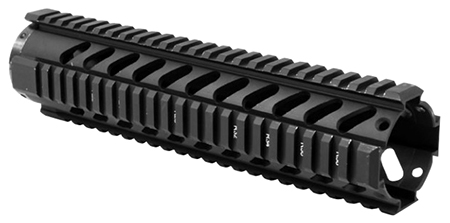 Aim Sports MT061 Free Float Quad Rail 10 inches Aluminum Blk